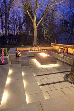 ways to improve your Techo-Bloc outdoor living area . - 7 ways to improve your Techo-Bloc outdoor living area ways to improve your Techo-Bloc outdoor living area . - 7 ways to improve your Techo-Bloc outdoor living area - Clean, ge. Backyard Seating, Backyard Patio Designs, Fire Pit Backyard, Cozy Backyard, Garden Fire Pit, Patio Ideas With Fire Pit, Modern Backyard Design, Fire Pit Seating, Diy Patio