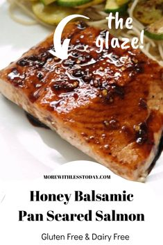 Everyone loves our Honey Balsamic Pan Seared Salmon recipe. It's is perfect for those with most food intolerance so everyone can enjoy it. Dairy Free Salmon Recipes, Seared Salmon Recipes, Pan Fried Salmon, Healthy Salmon Recipes, Pan Seared Salmon, Fish Recipes, Seafood Recipes, Baked Salmon, Delicious Recipes