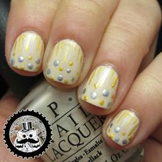 Geeky Owl: The Nail Challenge Collaborative Does Dots: Happy New Year's Confetti! (Also my three year blogiversary!)