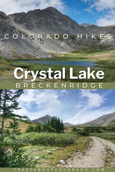 Crystal Lakes Trail located near Breckenridge, CO is a haven of alpine scenery. Views of the Ten Mile Range alongside Lower Crystal Lake nestled below the mountain ridges are gorgeous. One beautiful hike through deep forests, wildflower-lined meadows, and Crystal Creek running through it all. Colorado Trail, Summit County, Alpine Lake, Deep Forest, Blooming Plants, Best Hikes, Day Hike, Hiking Trails, Dog Friends