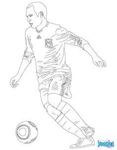 coloriage du joueur de foot edinson cavani à imprimer