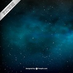 Star filled sky background Free Vector