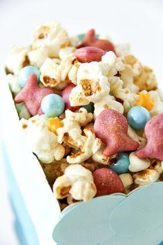 Disney's The Little Mermaid: Ariel's Mermaid Munch movie night and party snacks. #GoldfishTales #ad