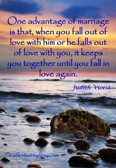 Free printable of this quote and other marriage quotes. Marriage - it keeps you together until you fall back in love again. Marriage quotes | Love quotes | Tips and advice