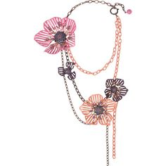 Lanvin Crystal and enamel floral necklace ($2,280) ❤ liked on Polyvore