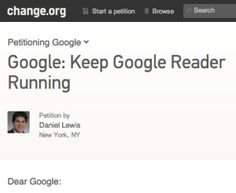 The Death of Google Reader Sparks a Petition 30,000 Signatures Strong
