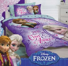 Frozen Quilt Cover Set from Kids Bedding Dreams. Ideal for girls bedroom and children that love Elsa and Anna. Frozen Kids, Frozen Elsa And Anna, Disney Frozen, Frozen Bedding, Frozen Quilt, Kids Bedroom Accessories, King Sheets, Bed Sheets, Kids Bedding Sets