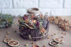 flowers decoration, Dried flowers , Handmade , dried flower boquet, decorate  interior, Floral Arrangement, candlestick, table decoration