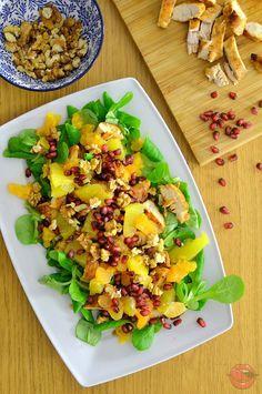 sałatka z kurczakiem i pomarańczą Fried Rice, Pasta Salad, Fries, Snacks, Ethnic Recipes, Easter, Food, Party, Christmas