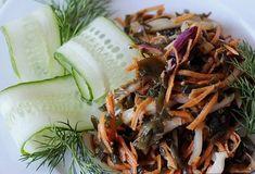 Салат из кальмаров и морской капусты