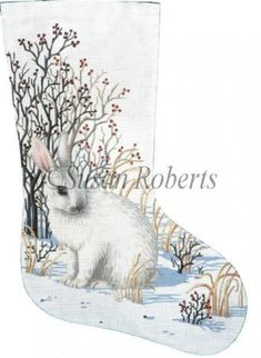 Bunny stocking. Different and not Christmas on overdrive. I like!