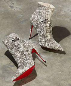 Christian Louboutin So Kate 100 Calf Caligraf Red Sole Booties Stilettos, Stiletto Heels, High Heels, Heeled Boots, Bootie Boots, Red Bottom Heels, Christian Louboutin So Kate, Red Sole, Red Bottoms