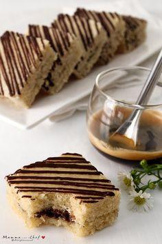 Quadrotti con crema di nocciole e cioccolato
