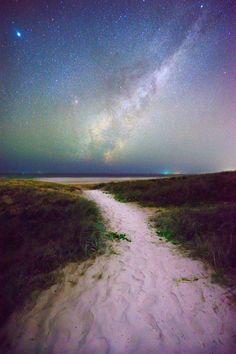 Milky Way over Sunshine Beach, Noosa Heads, Queensland, Australia Tasmania Australia, Australia Travel, Western Australia, South Australia, Coast Australia, Victoria Australia, Melbourne, Sydney, Brisbane