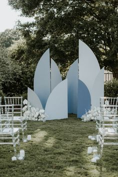 Blue moon inspired ceremony backdrop | Image by Phylicia Willis Photography Moon Wedding, Celestial Wedding, Blue Wedding, Old Country Churches, Pastel Colour Palette, Winter Bride, Ceremony Backdrop, Landscape Photography, Night Photography