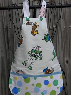 Upcycled Recycled Childrens Apron Disney Toy Story by GINISGIFTS, $10.00