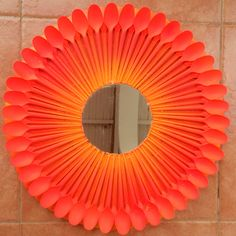 Sunshine ombré spoon mirror. I used plastic teaspoons for this one.