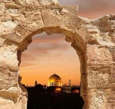 Jerusalem'Al Quds capital of palestine Terre Promise, Terra Santa, Palestine Art, Beautiful Places, Beautiful Pictures, Dome Of The Rock, Templer, Israel Travel, Promised Land