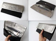 Silver leather wallet by Nastya Klerovski