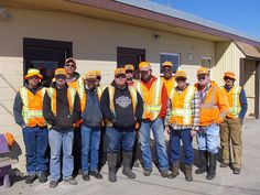 KDOT employees at Holton Subarea Office. They are participating in National Work Zone Awareness Week, April 15-19, and wearing orange to show their support for highway workers across Kansas to raise awareness on the need for safety in work zones. Find out more about KDOT's work zone safety efforts at http://www.ksdot.org and click on the Go Orange logo.