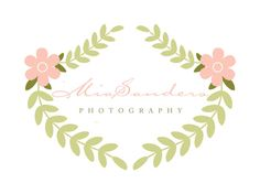 Custom Logo Design Premade Logo and Watermark for Photographers and Small Crafty Boutiques Vintage Wreath/Facebook Timeline / Etsy Shop Set on Etsy, $12.00