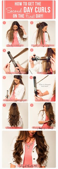 "How to get ""second day curls"" on the first day!"