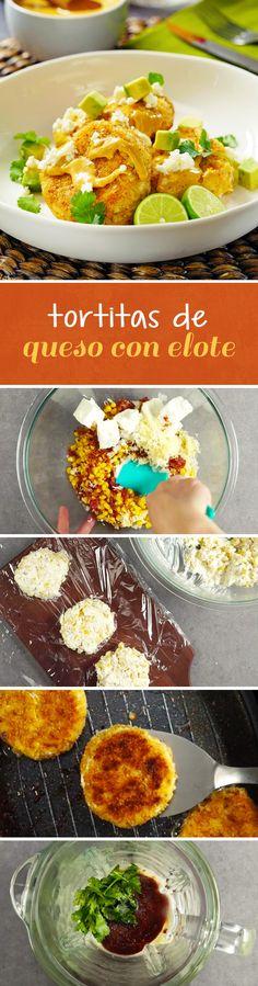 Deliciosas tortitas de elote o maíz dulces rellenas de queso crema y empanizadas con panko. Dale el toque picosito a tu platillo con el dip de chipotle que acompaña esta receta para botanear o consentirse el fin de semana.