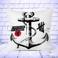 Anchor 5 seconds of summer Logo Pillow Cases