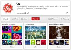 GE's Pinterest B2B Account Pinterest For Business, Pinterest Marketing, Seo, Accounting