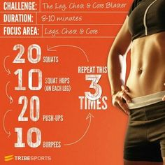 Legs core and abs challenge