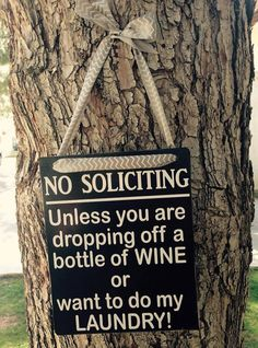 No Soliciting Unless You Are Dropping Off by TheLittleSparkleShop