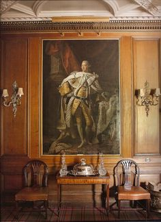 Ballindalloch Castle The dining room features a prominent portrait of George III by Allan Ramsay.