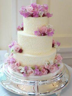 Pink Summer Fantasy Wedding Cake #culinarycapers #catering #weddingcakes http://www.culinarycapers.com/