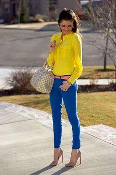 Blue + Yellow Combination ♡