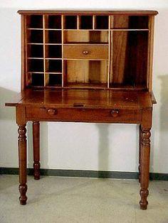 C 1870 Walnut Plantation Desk With Paneled Ends It Is Two Piece A