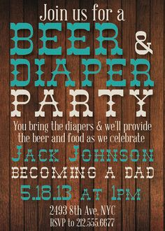 custom beer and diapers baby shower invitation by splendidandspark, $12.00