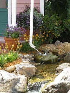 75 Beautiful Rain Garden You Should Have In Your Home Front Yard 420 Rain Garden Design, Jardin Decor, Water Features In The Garden, Dry Creek, Dream Garden, Backyard Landscaping, Landscaping Ideas, Garden Projects, Outdoor Gardens