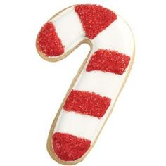 Wilton: example of decorated Candy Cane Cookies