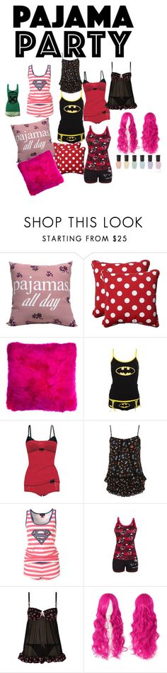 """Just girls"" by sexy707lady ❤ liked on Polyvore featuring Pillow Perfect, Vive Maria, Hello Kitty and Deborah Lippmann"