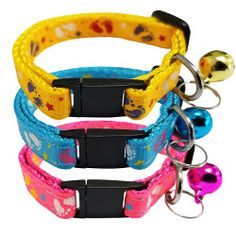 A great collection of cat collars from Bemix Pets.