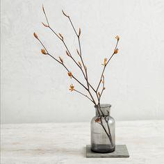 Smoked Glass Small Vase | Vases | The White Company UK
