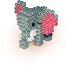 3D Elephant perler beads by SES Creative