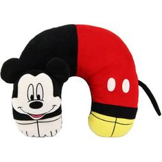 Disney Mickey Mouse 3D Character Neck Pillow, Red