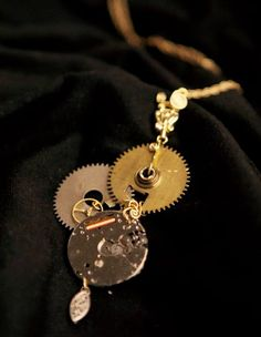DIY-steampunk-necklace; EARRINGS