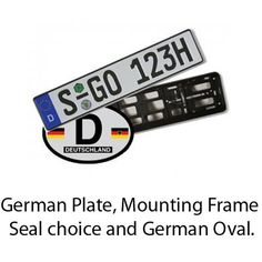 German Plate and Frame package - Custom Made to Order - Custom Options - Current Specials - Other Products | EuropeanPlates.com: $34.99