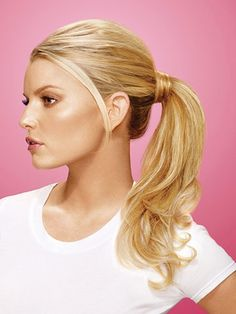I wanna try a fake ponytail up in a bun! Wheeeee! Midlife crises are fun!