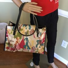 "Cool Girls Plexi Tote 15""L x 10""H x 4.5D   Includes see thru coin purse  100% PVC exterior. Lining 100% polyester Maxx New York  Bags Totes"