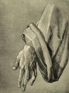 Alberto Durero - A.Dürer, Hand of Apostle / Draw./ c.1508