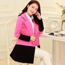 Áo khoác nữ thiết kế cổ vest sang trọng, phối 2 màu trẻ trung, nữ tinh