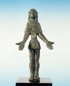 Exvoto de bronce, Cultura ibérica (siglos VI - I a.C.)  Santuario de Castellar de Santisteban, Los Altos del Sotillo (Jaén)